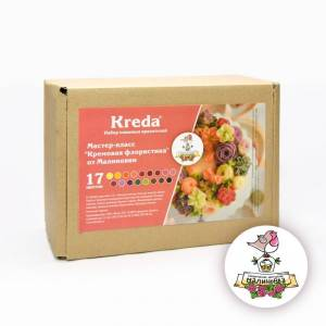 "Food gel dyes Kreda set cream floristry ""from"" малиновки ""17 colors"