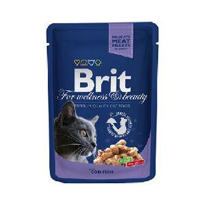 Brit premium Spider D/cats cod fish pouch cod 100g * 12 PCs
