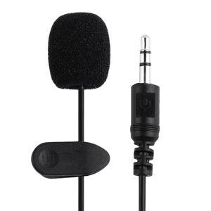 3.5mm PC / Phone / Camera Mini Microphone Lapel Lavalier Mic Portable External Buttonhole Microphones for iPhone Laptop Computer