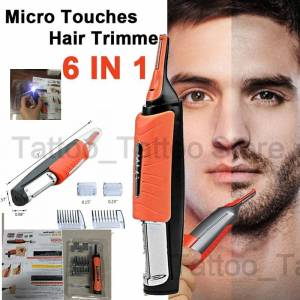 Micro Precision Eyebrow Ear Nose Trimmer Removal Clipper Shaver Unisex Personal Electric Face Care Hair Trimer With LED Light