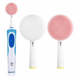 Braun Facial Brush Head For Braun Oral b Vitality Triumph D12 D16 D20 D34 Electric Toothbrush Head Silicone Facial Cleansing Brush