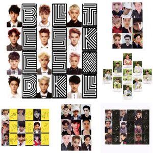 K&M Youpop KPOP EXO K M EXACT LOTTO Plant 3 EX'ACT Album Self Made Paper Cards K-POP Signature LOMO Photo Card Photocard