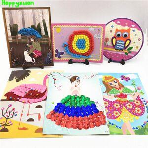 Happyxuan 6 Designs DIY Paper Arts and Crafts Kits Children Creativity Handicrafts Girls Kindergarten Education Toys 5-10 years