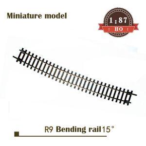 Miniature model 1:87 HO ratio R9 curved rail 55219 15 ° Single subgrade rail set Train sand table material