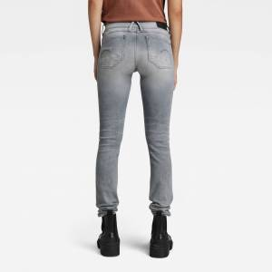 G-Star RAW Lynn Mid Waist Skinny Jeans 25-34 Grey