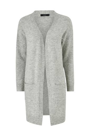 Vero Moda Cardigan vmBlakely Iva LS Open Cardigan Light grey melange