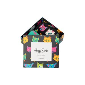 Happy Socks 2-Pack strumpor Cat Gift Box Multi