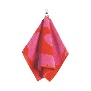 Marimekko Handduk Unikko, 30x50 cm Röd/rosa