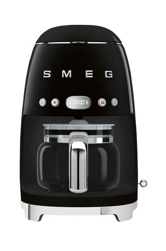 SMEG Kaffebryggare svart dcf02bleu Svart