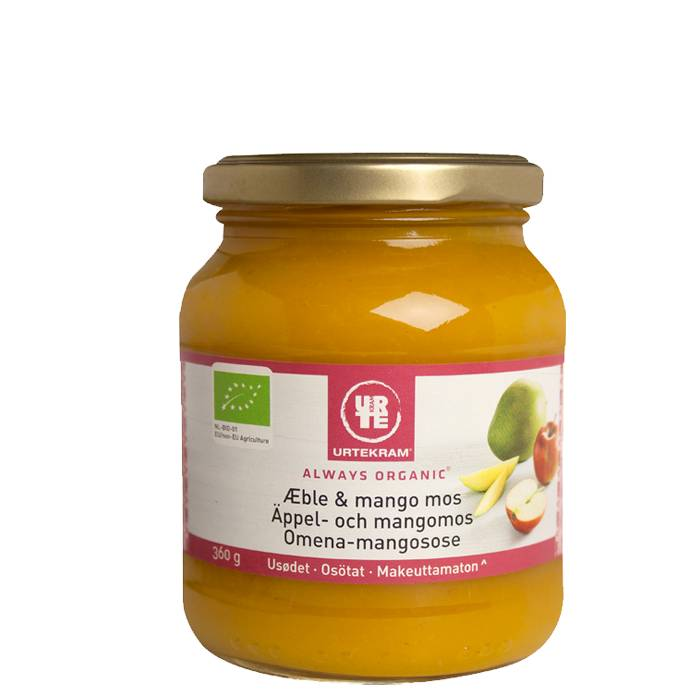 Urtekram Äpple- och Mangomos Eko, 360 g