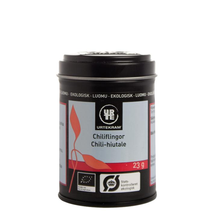 Urtekram Chiliflingor, 23 g