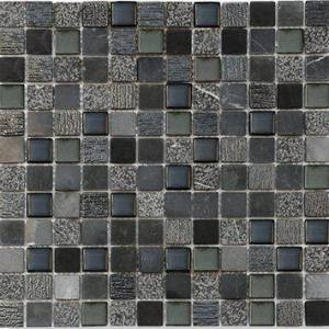 Dekora Mosaik marble glasmi x nero 2,3x2,3x8cm