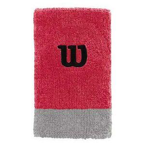 Wilson Wristband Extra Wide röd 2-pack