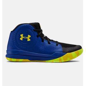 Under Armour Primary School UA Jet 2019 Basketball Shoes Blue 38.5
