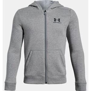 Under Armour Boys' UA Rival Fleece Full Zip Hoodie Gray YXL