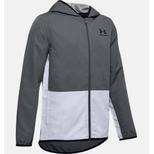 Under Armour Boys' UA Woven Track Jacket Gray YLG