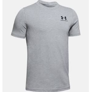 Under Armour Boys' Charged Cotton® Short Sleeve Shirt Gray YSM