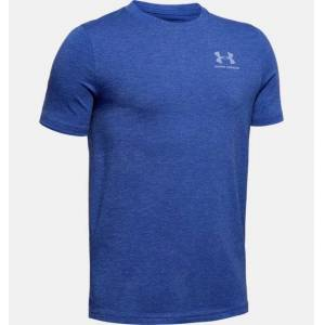 Under Armour Boys' Charged Cotton® Short Sleeve Shirt Blue YLG