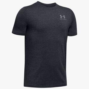 Under Armour Boys' Charged Cotton® Short Sleeve Shirt Black YXS
