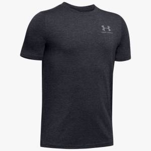 Under Armour Boys' Charged Cotton® Short Sleeve Shirt Black YXL