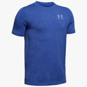Under Armour Boys' Charged Cotton® Short Sleeve Shirt Blue YSM