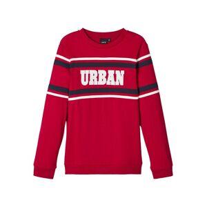 NAME IT Urban-prydd Långärmad T-shirt Man Röd