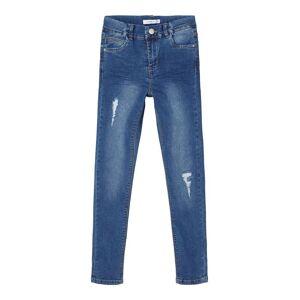 NAME IT Höga Skinny Fit Jeans Kvinna Blå 128