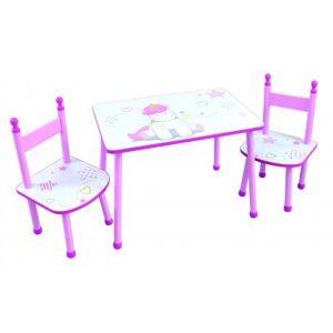 Unicorn bord med 2 stolar