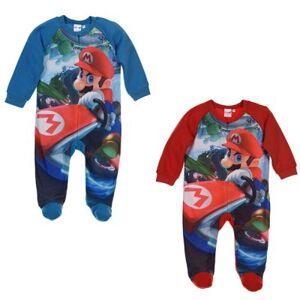 Super Mario Bros Super Mario Pyjamas i fleece 6-23 månader (Blå, 3 MÅN - 60 cm)