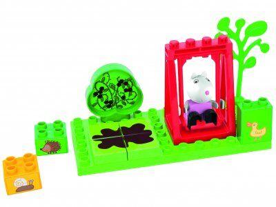 Peppa Pig Greta gris blockset med figur och tillbehör