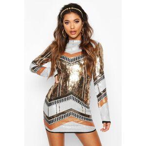 boohoo Boutique Sequin Bodycon Dress, Metallics 34