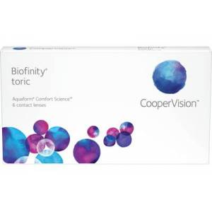Biofinity toric (6 linser): +2.75, -1.25, 40