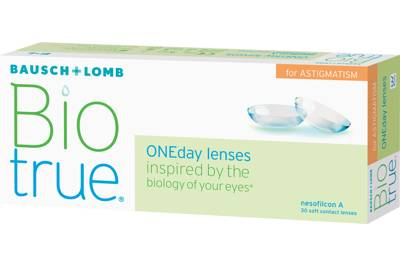 Biotrue ONEday for Astigmatism (30 linser): -5.50, -0.75, 10