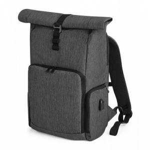Quadra Q-Tech Charge Roll-Top Backpack Granite Marl