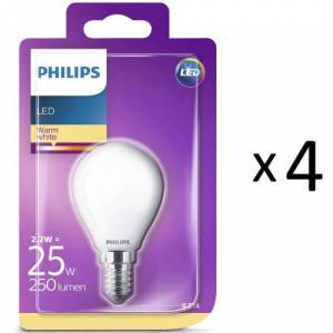 Philips LED E14 Klot 25W Frost 4st