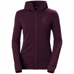 Helly Hansen W Power Stretch Pro Glacier Hooded Jacket L Purple
