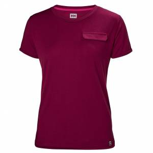 Helly Hansen W Lomma Tshirt L Purple