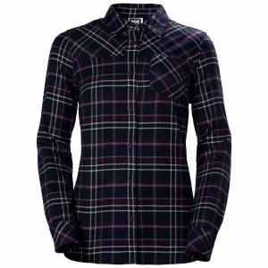 Helly Hansen W Classic Check Ls Shirt XL Purple