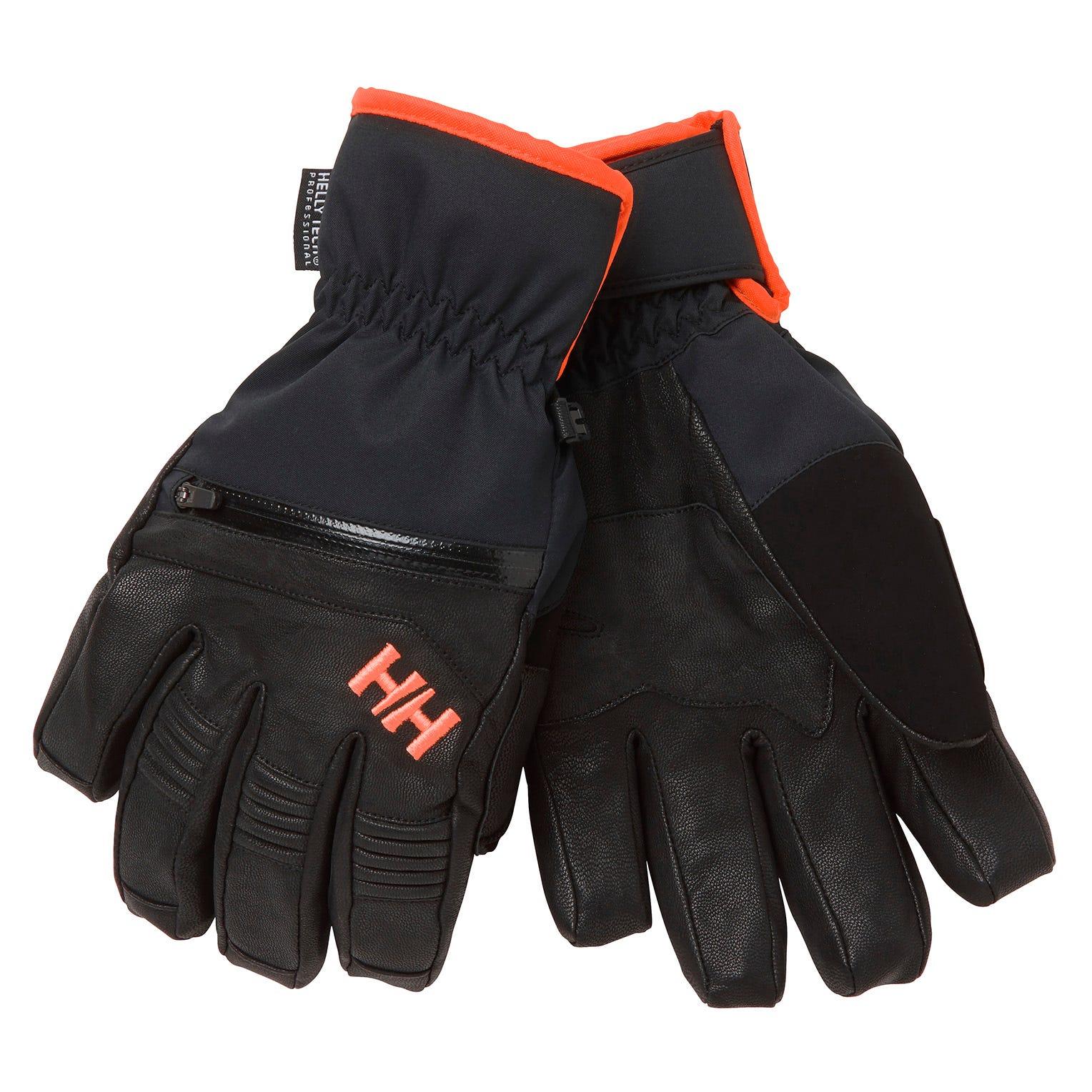 Helly Hansen Unisex Alpha Warm Tech Ski Gloves   L Black