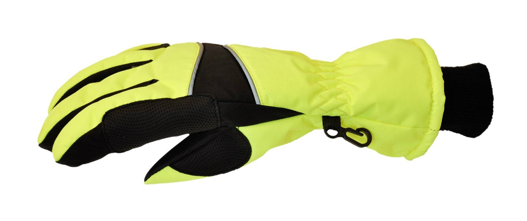 Jacson 5-Finger Handske Thermo Neon Gul S