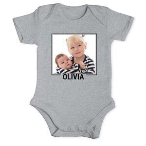 YourSurprise Baby onesie - kortärmad - Grå - 50/56