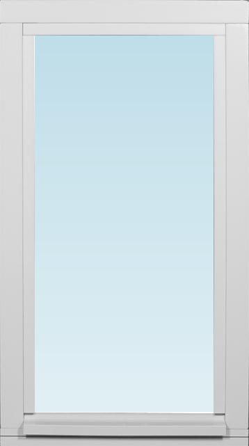 Dala Fönster Fönster DFK 385x685mm fast målad 1-luft 3-glas (4x7)