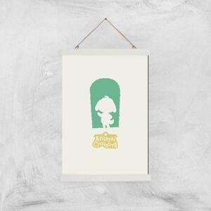 Nintendo Animal Crossing Green Door Art Print - A3 - White Hanger