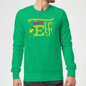 Elf Angry Elf Christmas Sweatshirt - Kelly Green - L - Kelly Green