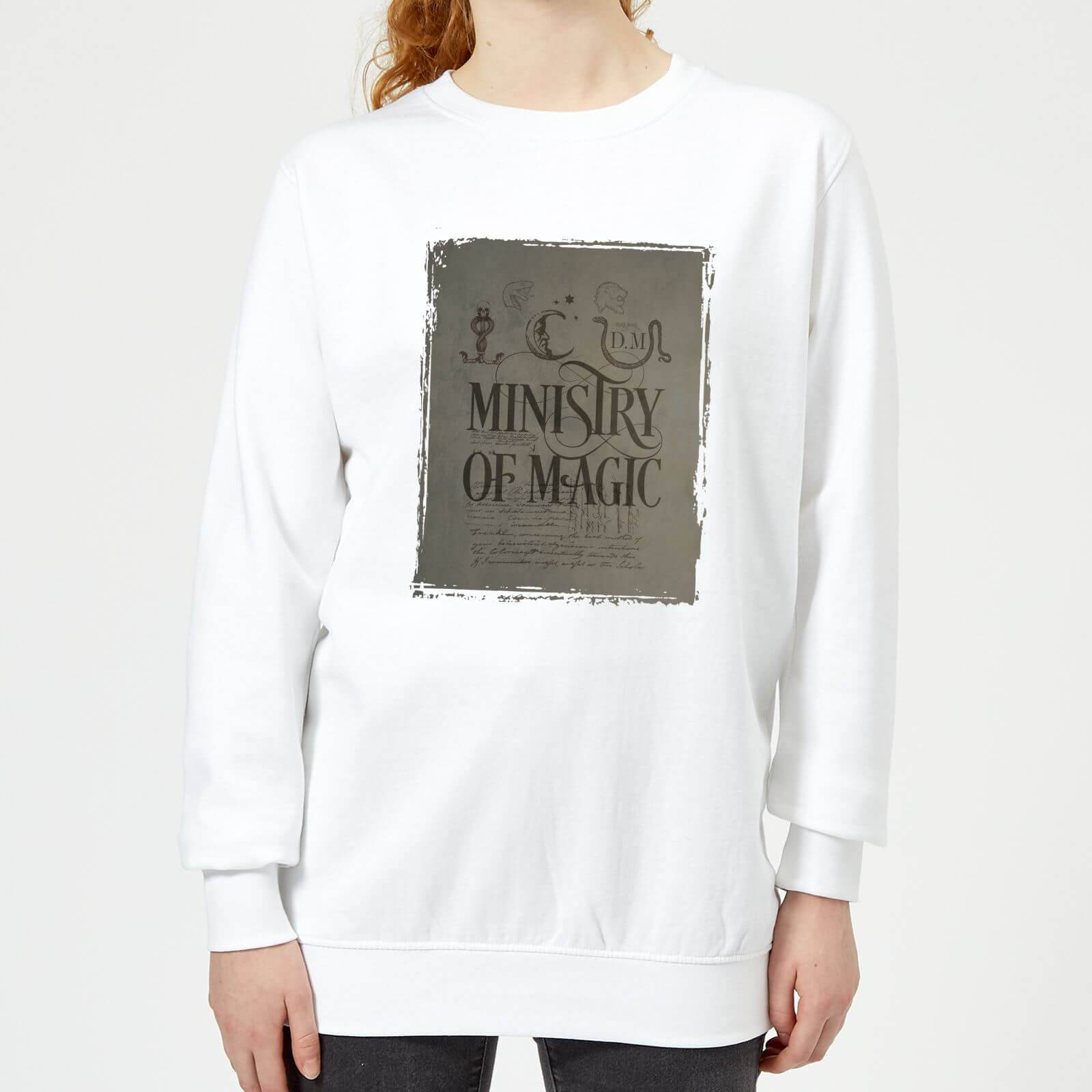 Harry Potter Ministry Of Magic Women's Sweatshirt - White - S - White