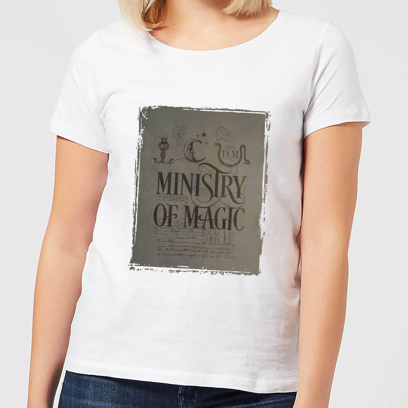 Harry Potter Ministry Of Magic Women's T-Shirt - White - 4XL - White