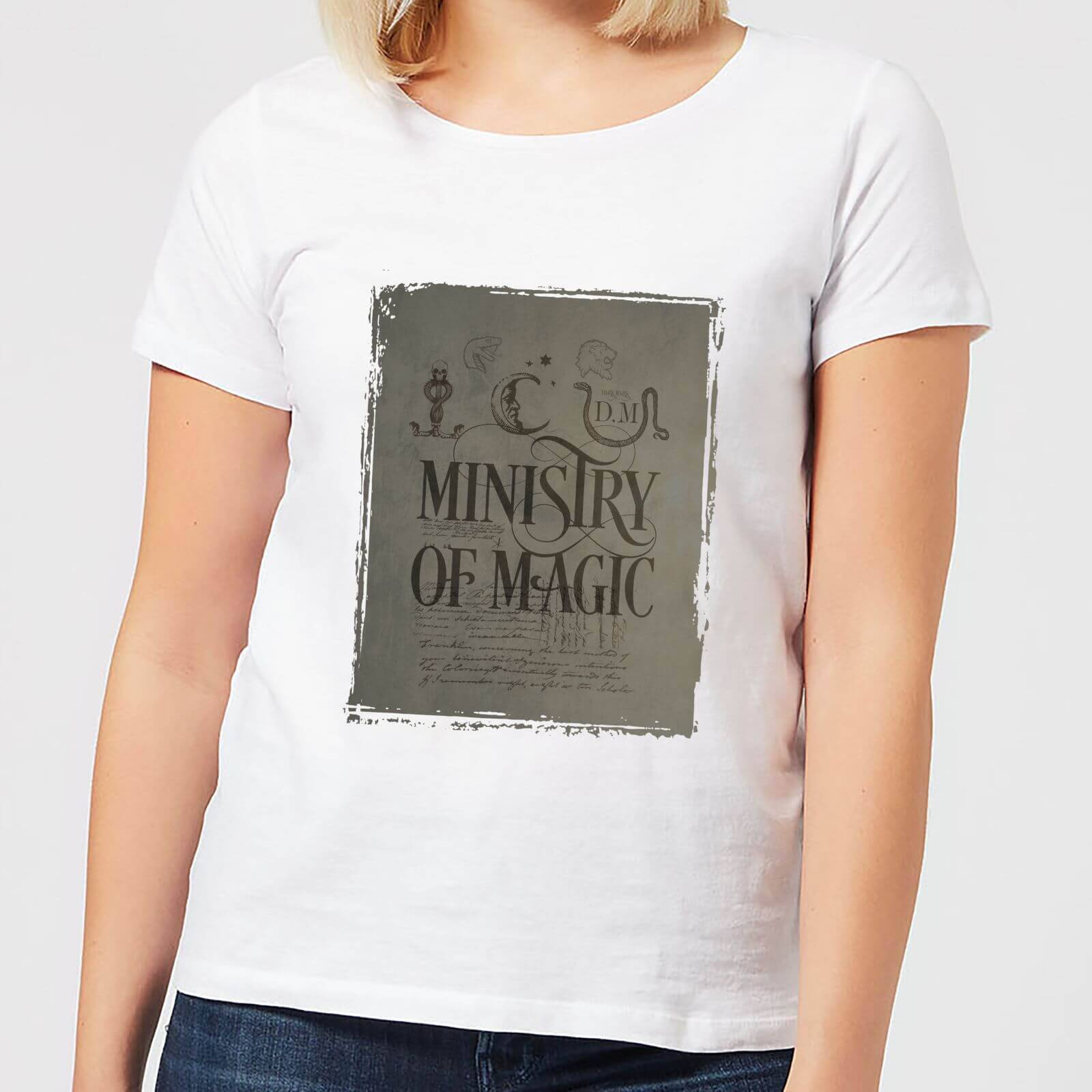 Harry Potter Ministry Of Magic Women's T-Shirt - White - XXL - White