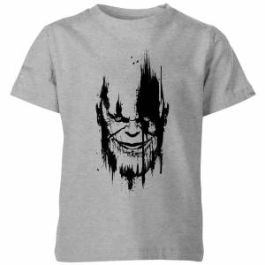 Marvel Avengers Infinity War Thanos Face Kids' T-Shirt - Grey - 9-10 Years - Grey
