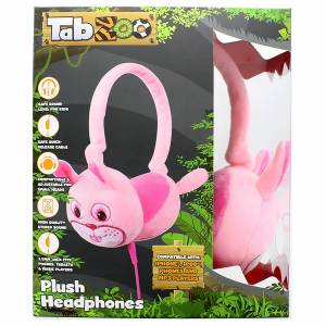 Lazerbuilt TabZoo Plush Rabbit Childrens Wired Headphones