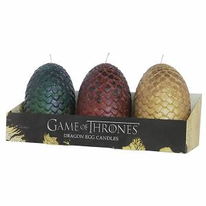 Insight Editions Game of Thrones Sculpted Candles Eggs (Set of 3)
